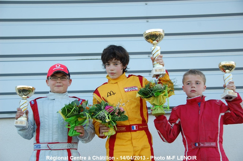 Podium karting Chatillon 2013