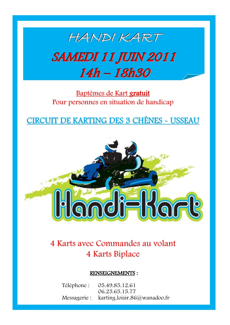 Handi-Kart circuit de Usseau