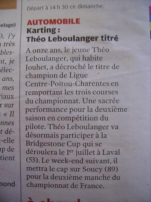 Article Nouvelle République du 15 juin 2012